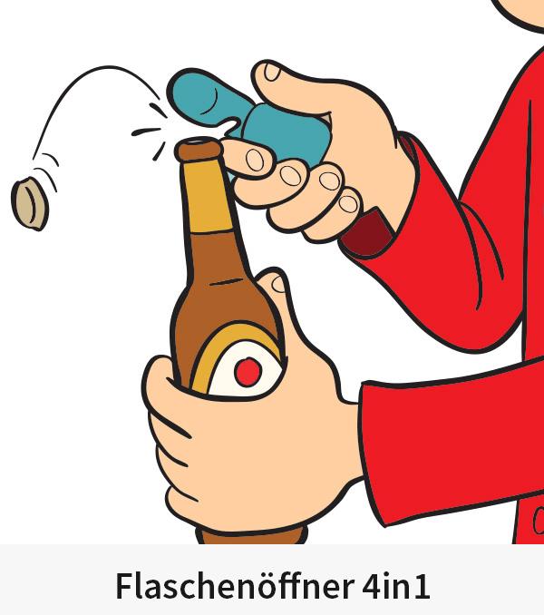 Flaschenöffner 4in1