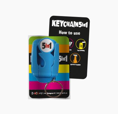 Badge4u – Keychain 5in1 – Pakowanie standardowe