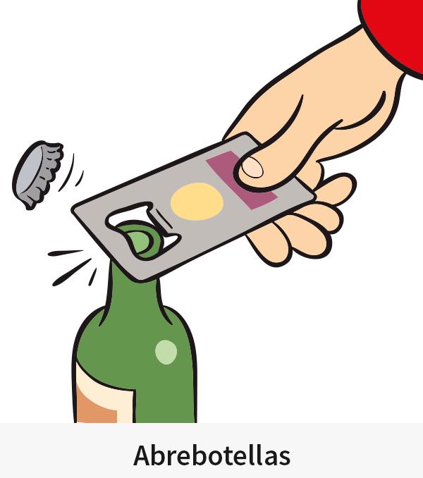 Abrebotellas en forma de tarjeta de crédito